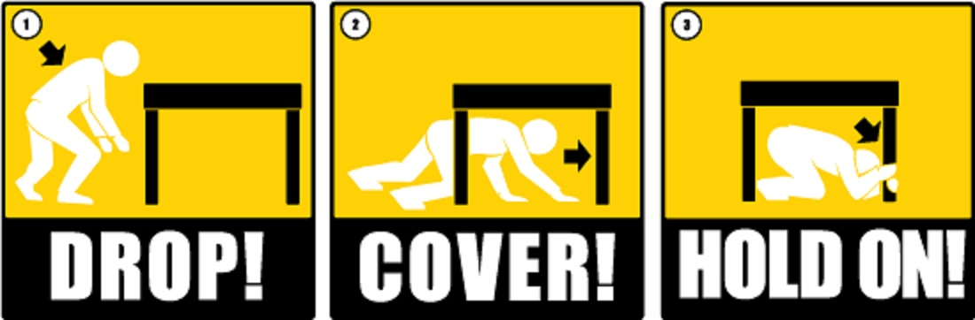 Earthquake drill clipart.
