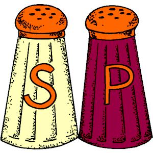 Salt and pepper shaker clipart.