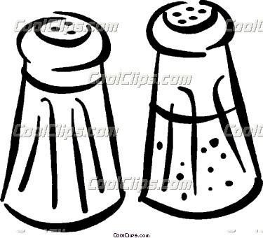 Cute Salt and Pepper Shakers Clip Art.