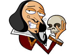 William shakespeare clip art.