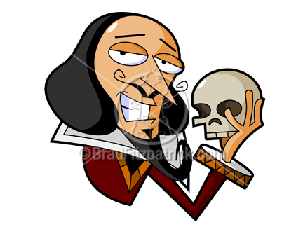 Cartoon Shakespeare Clipart Picture.