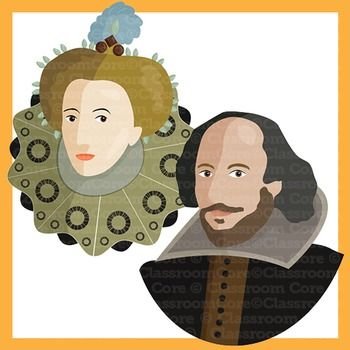 Clip Art: Shakespeare, Renaissance Era, Queen Elizabeth.