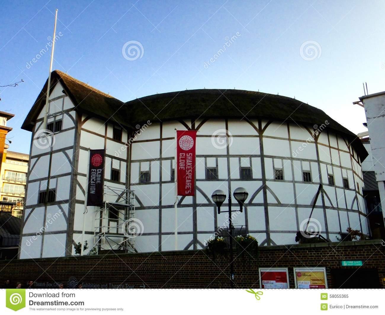 Shakespeare's Globe, Bankside, Southwark, London Editorial Image.