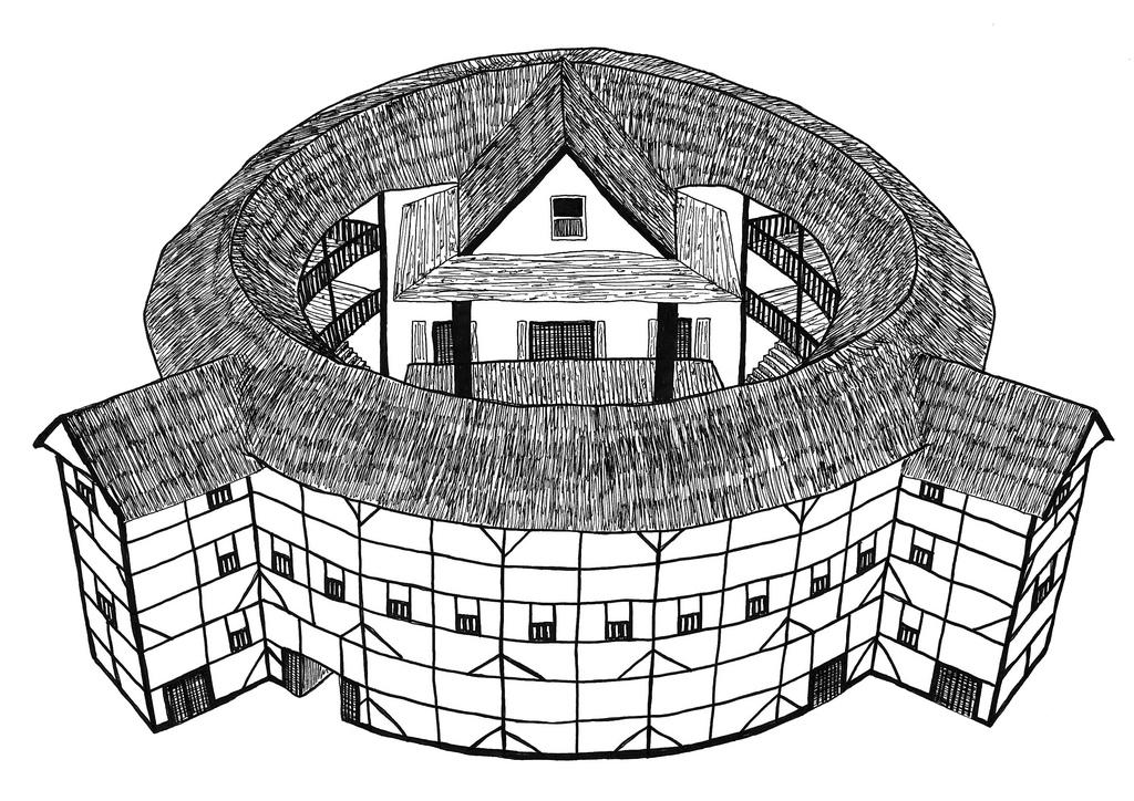 Globe theatre clipart.