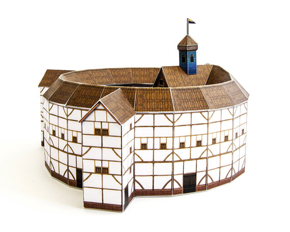 Globe Theatre crafts kit for building your own by PaperLandmarks.