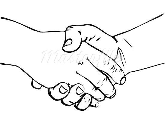 Hands shaking clip art.
