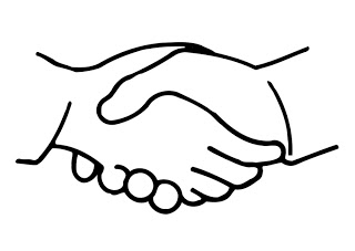 Hand black and white shaking hands clipart black and white.