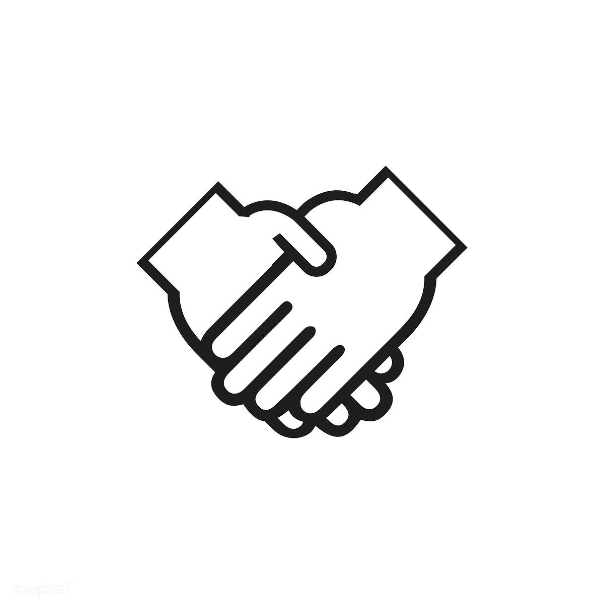 Download free vector of Shaking hands icon vector about.