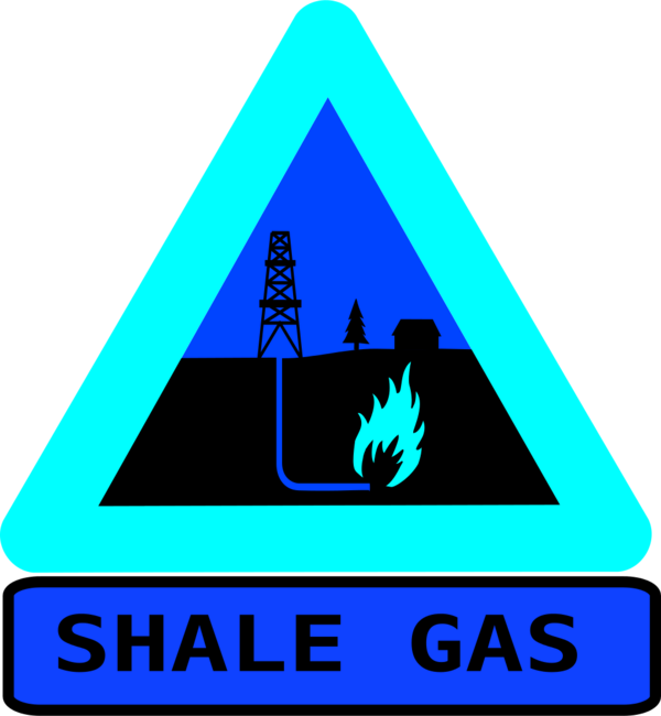 Warning shale gas with text.