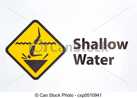 Stock Photography of Shallow Water.
