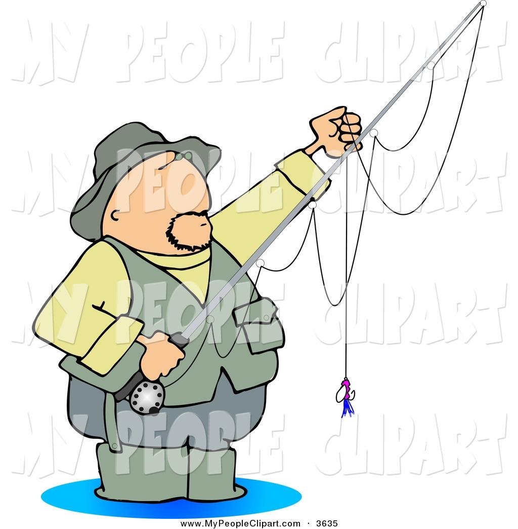 Royalty Free Fishing Stock People Designs.