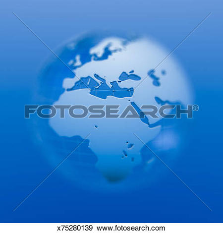 Stock Illustration of Globe with shallow depth of field x75280139.