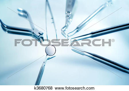 Pictures of Dental instruments with shallow depth of field.