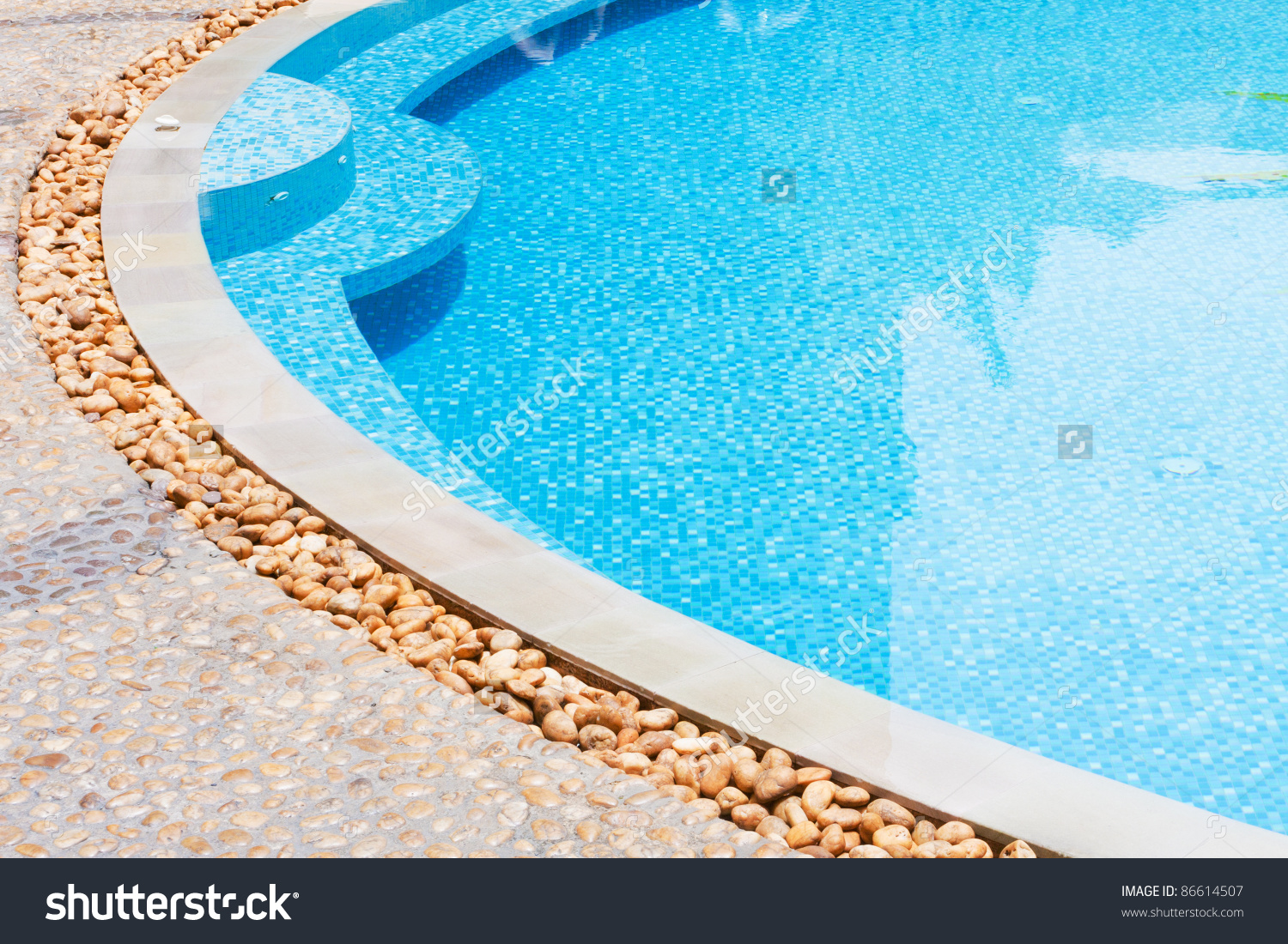 Outdoor Shallow Water Swimming Pool Stock Photo 86614507.