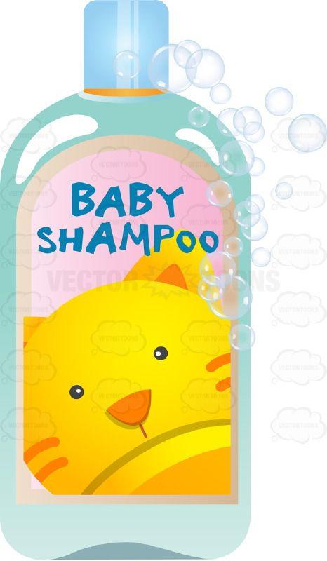 Soap and shampoo clipart.