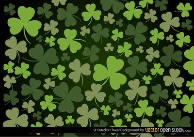 Free St Patrick\'s Clover Backgrounds Clipart and Vector.