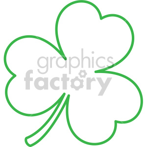 shamrock dotted outline clipart. Royalty.