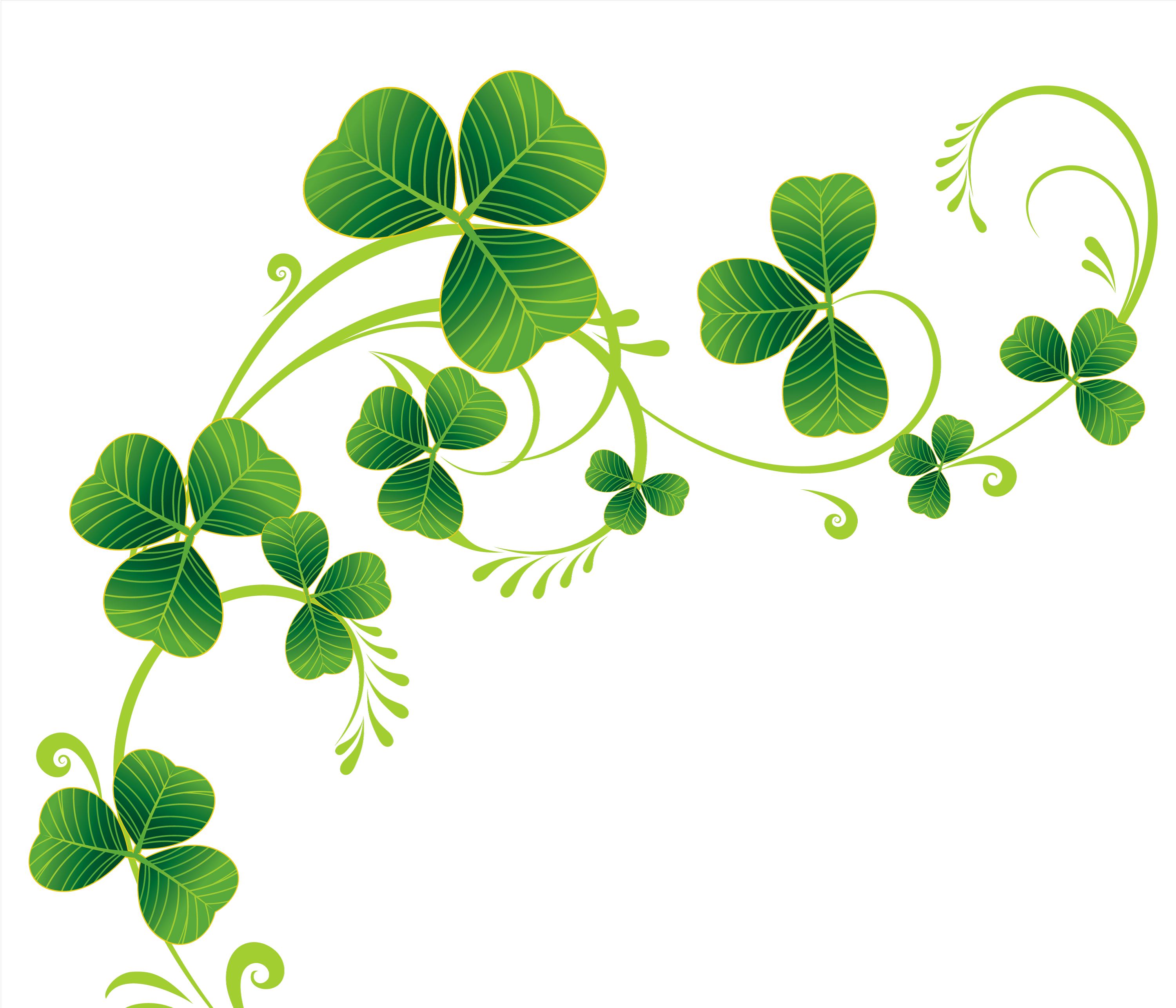 Border Of Shamrocks Clipart.
