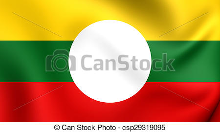 Stock Illustration of Flag of Shan State, Burma..