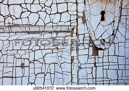 Stock Photo of Detail of an old door, Shaniko, Oregon, USA.