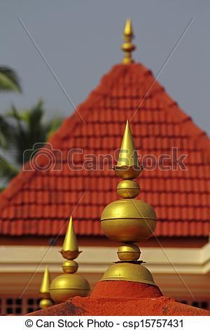 Stock Photos of Shri Shantadurga Temple, Kunkallikarin, Fatorpa.