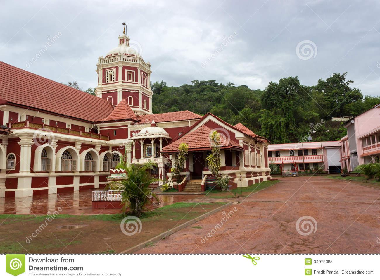 Shree Shanta Durga Temple In Goa Stock Photo.