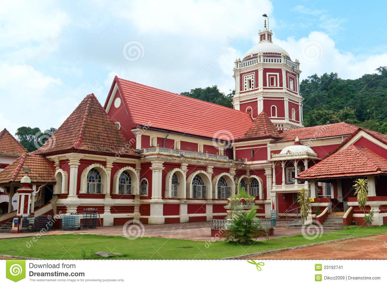 Shri Shantadurga,famous Hindu Temple In Ponda. Goa Stock Image.