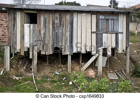 Shanty town clipart.