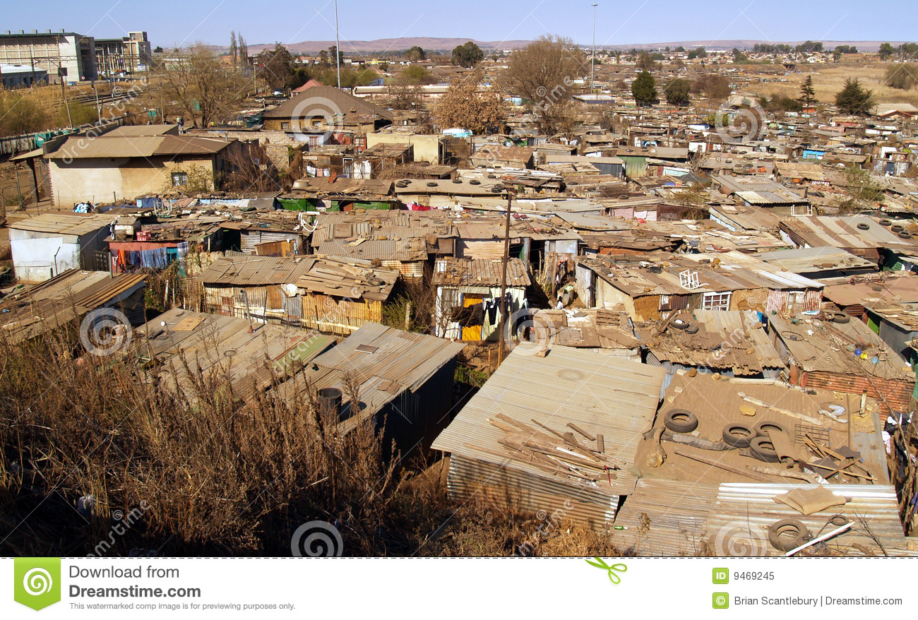 Soweto Shanty Town, Expansive View. Editorial Image.