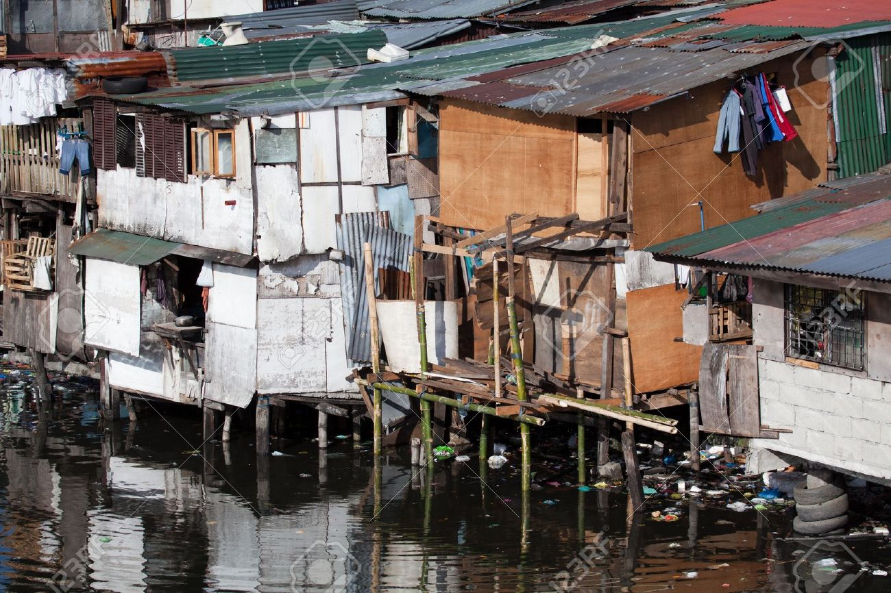 Squatter Homes In The Philippines.