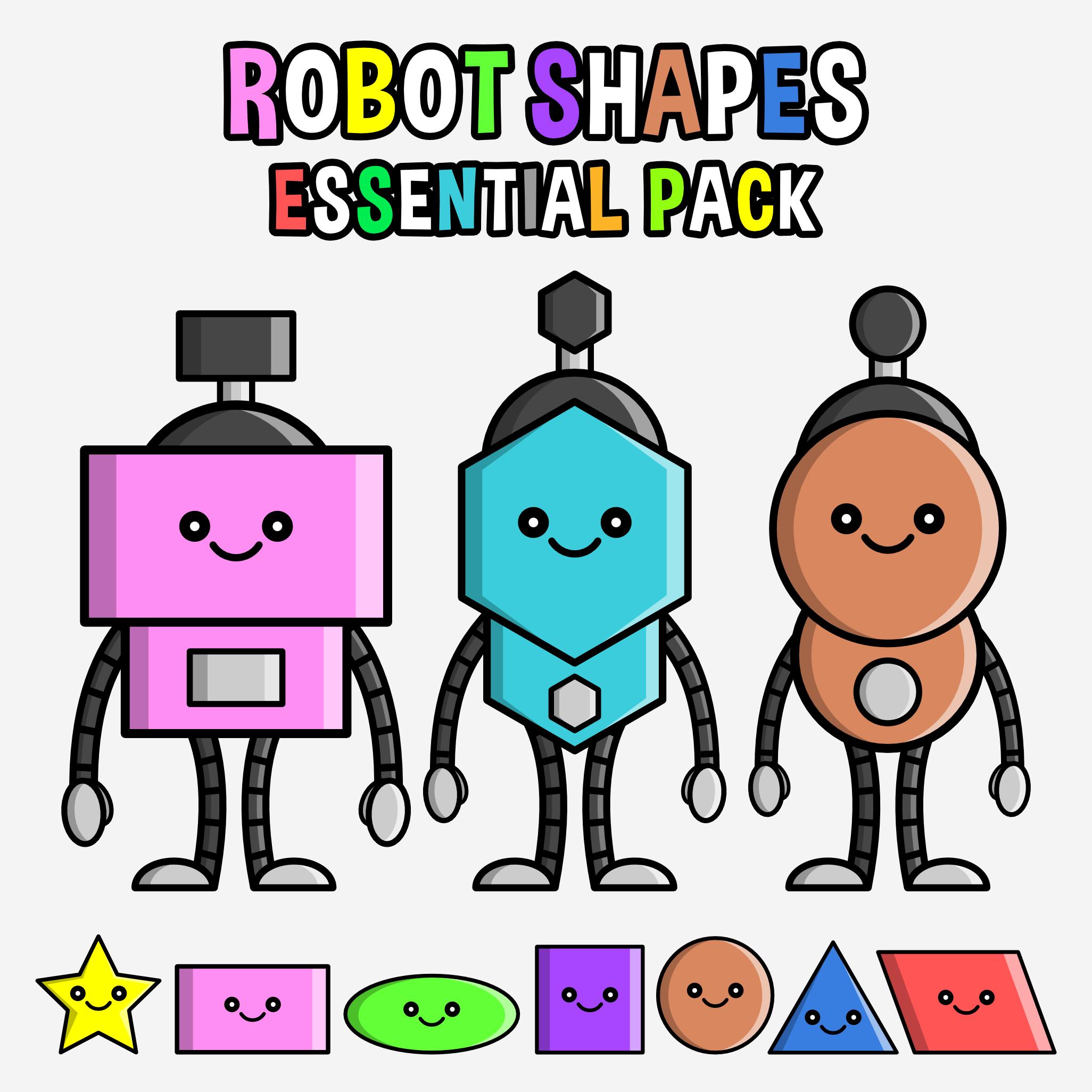 Robot Shapes Clipart.