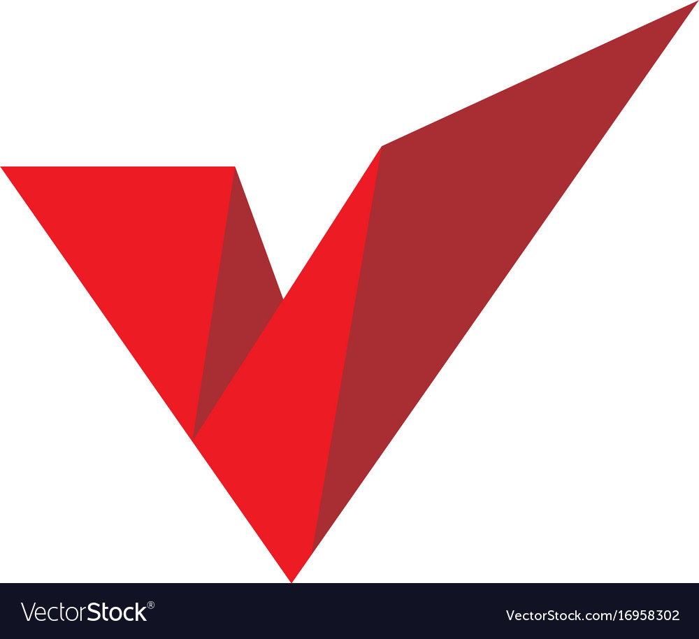 Abstract letter v shape logo.