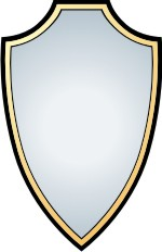 Clipart shields outlines.