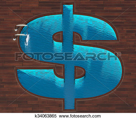 Stock Illustration of Shaped pool dollar plan k34063865.