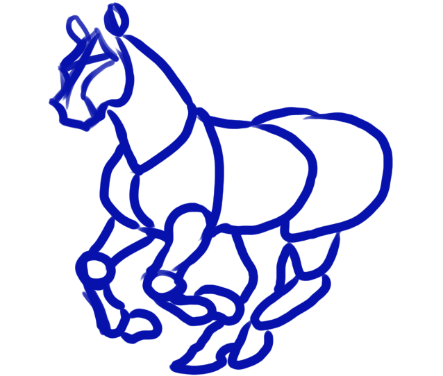 HOW TO DRAW TANG (T'ANG) DYNASTY HORSES.