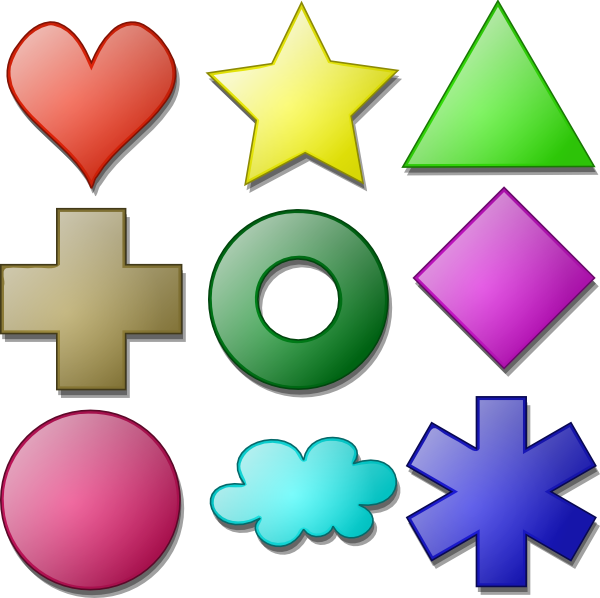 Animated Shapes Clipart.