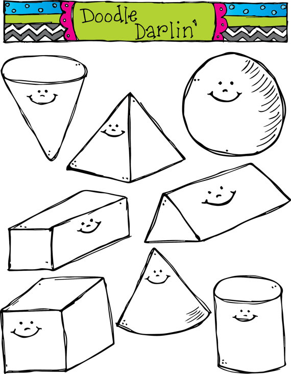 Shapes clipart black and white 3 » Clipart Station.