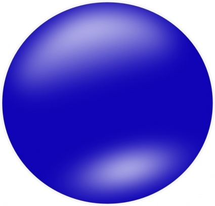 Blue Shapes Clipart.