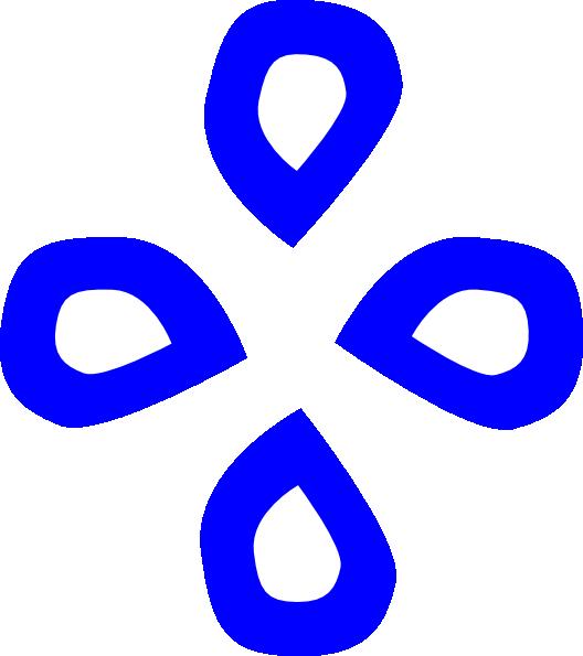Blue Tears In Diamond Shape Clip Art at Clker.com.
