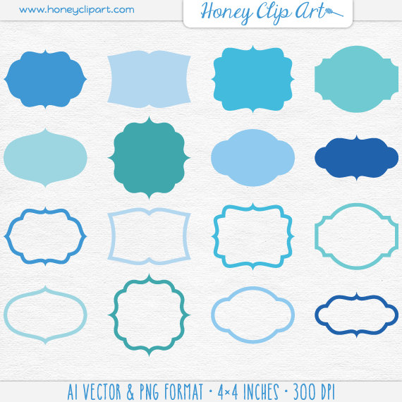 Shapes Clipart Blue.