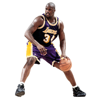 Shaq From Los Angeles Lakers Basketball Team (PNG.