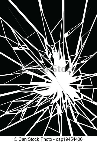 Vector Clipart of Shatter Shards.