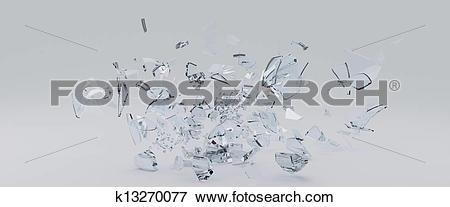 Stock Illustration of Flying Shards of glass k13270077.