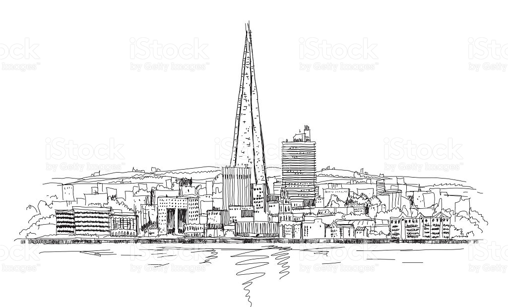 Shard Of Glass London Sketch Collection stock vector art 466926218.