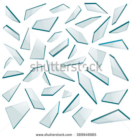 Glass Shards Stock Images, Royalty.