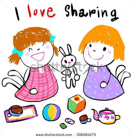 Sharing Food With Friends Clipart.
