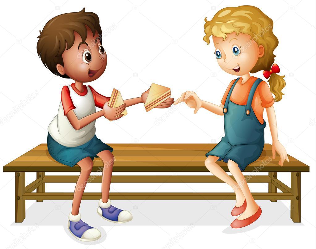 Cartoon Pics Of Kids Eating