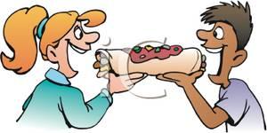 Sharing Food Clipart.