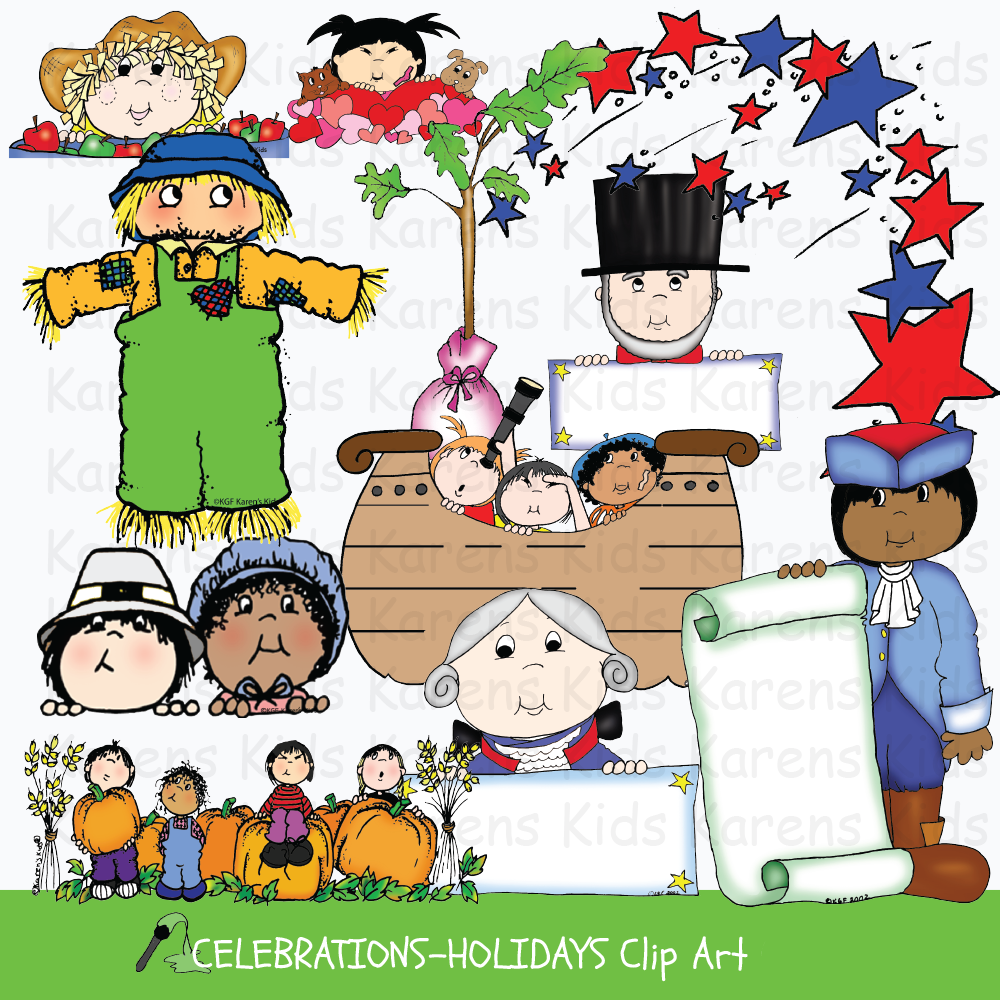 Celebrations and Holidays Clip Art.