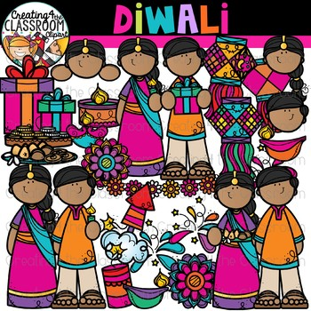 Diwali Clipart {Holidays Around the World Clipart}.